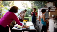 Hipsters Grilling at a Summer BBQ video