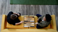 Hipsters Playing Backgammon video