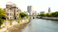 Hiroshima Dome and River, Japan video