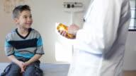 Hispanic Boy's Pediatrician Visit, Medication video