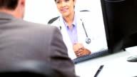Hispanic Doctor Meeting Business Advisor video