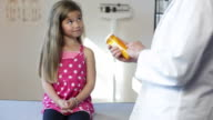 Hispanic Girl's Pediatrician Visit, Medication video