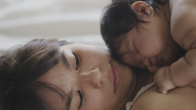 Hispanic Mother and Baby Bonding Together video
