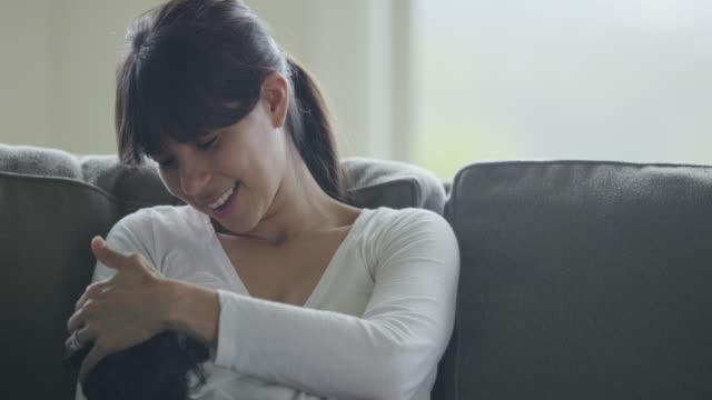 Hispanic Mother Breastfeeding Her Baby Girl video
