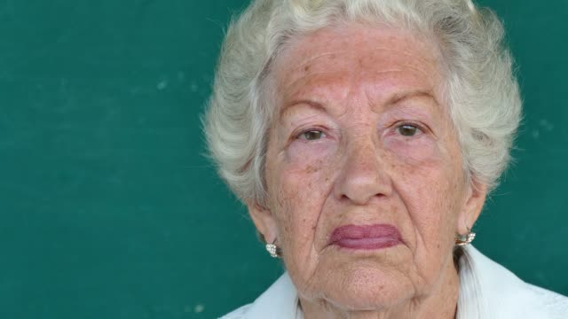 13 Hispanic Old People Portrait Serious Senior Woman Face Expression video