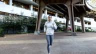 Hispanic young woman running in New York video