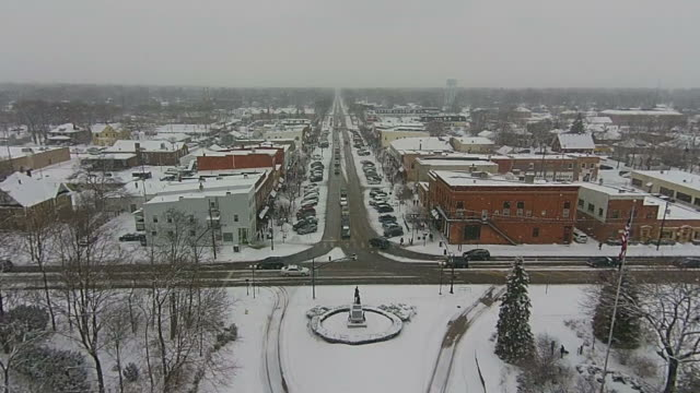 Historic Downtown Ohio City Aerial View video