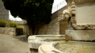 Historic fountain at little village in Pre Alpes in South France video