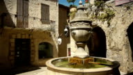 Historic fountain at Saint Paul de Vence, South France video