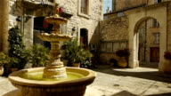 Historic fountain at Tourrettes sur Loup, South France video