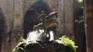 Historic fountain in an ancient Palace video