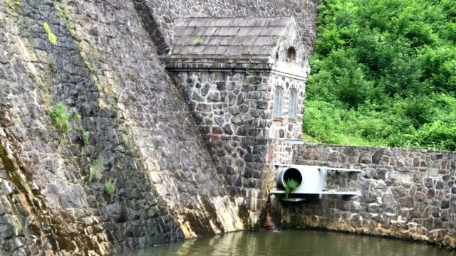 Historic German dam in South West Poland in Zagorze Slaskie near Swidnica city video