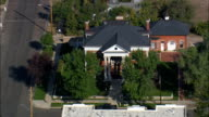 Historic Governors' Mansion - Aerial View - Wyoming, Laramie County, United States video