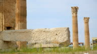 Historic monument of ancient architecture, temple ruins, Greek national heritage video