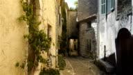 Historic streets in little village Saint Paul de Vence, South France video