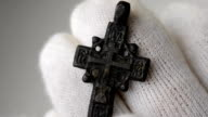 Historic traditional pectoral cross close video