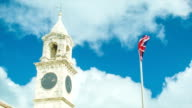 Historical Architecture in Bermuda with British Flag video