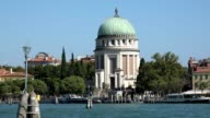 Historical Building And Boats At Venice Canal video