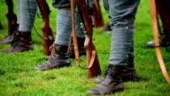 Historical military reenactment video