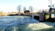 historical Needle weir at side arm of Havel River (Brandenburg, Germany) video