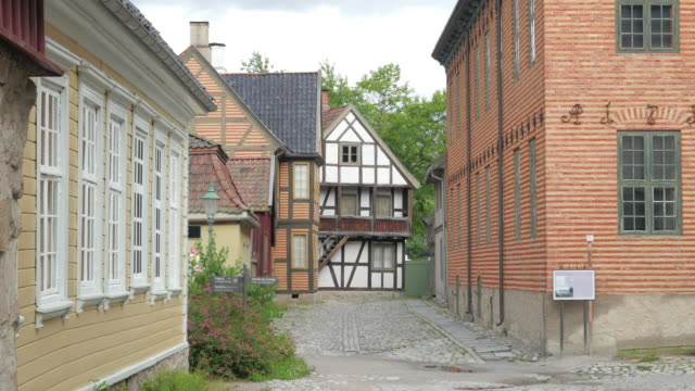 historical streets of oslo, norway video