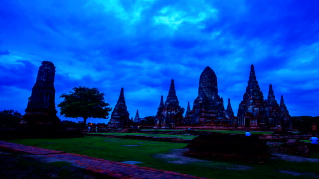 Historical temple in Ayutthaya, Thailand video