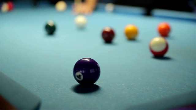 Hitting balls at pool video