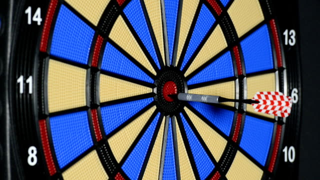 hitting bulls eye in slow motion video