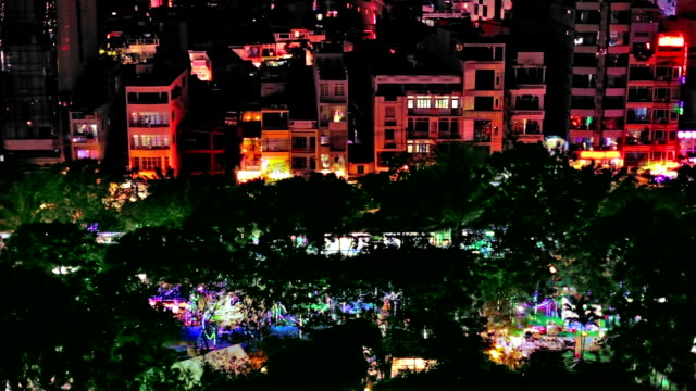 Ho Chi Minh city at night video