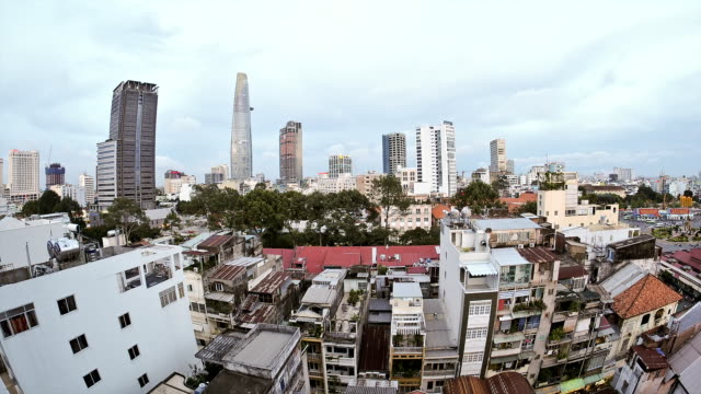 Ho Chi Minh City day to night timelapse. Vietnam. video