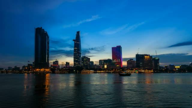 Ho Chi Minh City Night Skyline Timelapse video