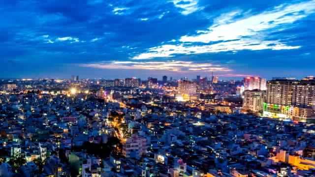 Ho Chi Minh City, Vietnam - Dusk Timelapse video