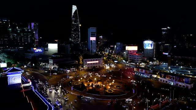 Ho Chi Minh City view at night video