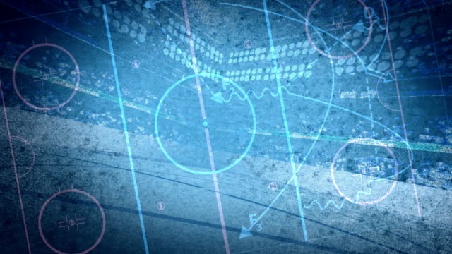Hockey Diagram Background Loop video