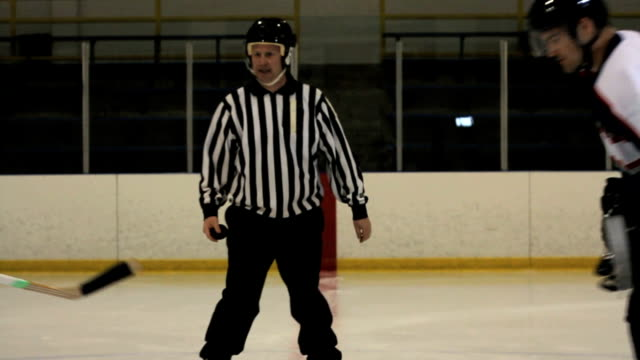 Hockey Player Faceoff video