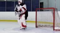 Hockey Player Goalie Glove Saves video