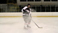 Hockey Player Stopping video