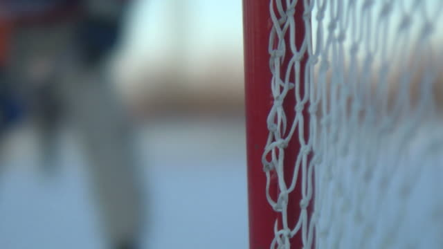 Hockey scene winter video
