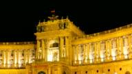 Hofburg Palace by night - Hyperlapse video