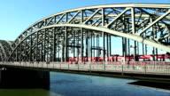 'Hohenzollern' bridge - Cologne, Germany video