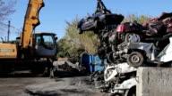 Hoisting smashed cars video