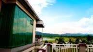 Holiday goft villa time lapse. video