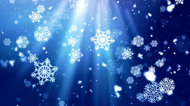 Holiday Snowflake Dark 3 Loopable Background video