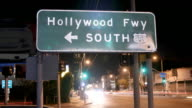 Hollywood Freeway Sign Close Up Time Lapse video