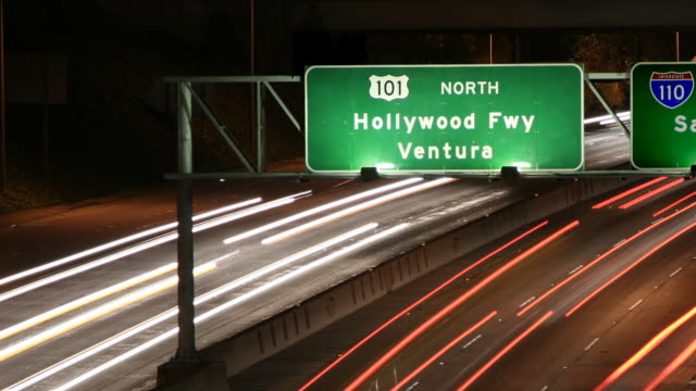 Hollywood Freeway Sign Close Up video