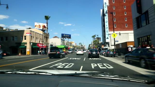 HD: Hollywood street drive video