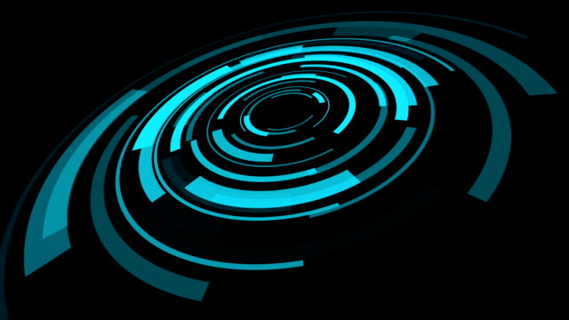 hologram futuristic interface, abstract motion background video