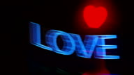 Hologram Love Shape. Valentine's day video