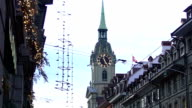 Holy Ghost Church with old clock tower, sightseeing tour to Bern, Switzerland video