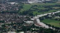 Holzminden  - Aerial View - Lower Saxony,  Landkreis Holzminden,  Germany video
